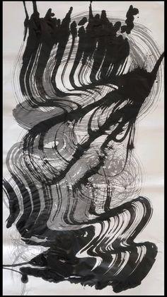 Big Mark-Making Brush - Ink On Paper