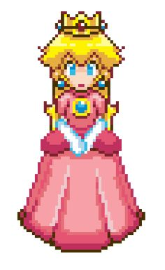 "saladturtles: ""An old Peach pixel animation I made. I once got a Daily Deviation for this on my old, deactivated Deviantart account. Super Mario Bros, Super Mario Kunst, Super Smash Bros Brawl, Super Mario World, Super Mario Princess, Nintendo Princess, Peach Mario, Videogames, Princesa Peach"