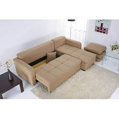 @Overstock   Enjoy Sleek European Comfort And Style With This Chaise Lounge  Sleeper Sofa.