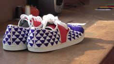 Beaded sneakers Twins for Peace #BeCoolBeGood