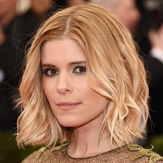 """Kate Mara's long bob or """"lob"""" is a cool and chic way to frame your face: http://www.bhg.com/beauty-fashion/hair/hairstyles-for-women-over-30/?socsrc=bhgpin072814thelob&page=10"""