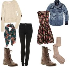 loving these outfits styled with combat boots!
