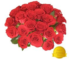 Flowers for delivery on Amazon Bouquet of 25 RED Fresh Roses Delivered with Free Flower Food Packet. Long Stem Rose in Bud Form. Guaranteed Best Flower Gift for Birthday Valentines Mothers Day Wedding ** Check out this great image  : Gardening Flowers