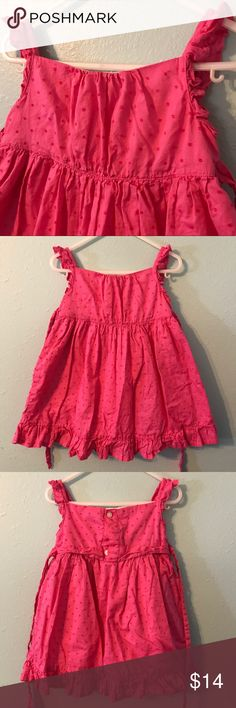 Adorable Girls Pink Summer Dress Very Cute Girls Summer Dress. Fuschia with a lining underneath. Buttons and ties in the back. This was worn a few times. No defects or problems. Bundle and save or make an offer! Smoke free home. American Living Dresses Casual