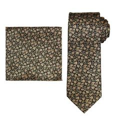Men's Batik Bay Tie & Pocket Square, Brt Yellow