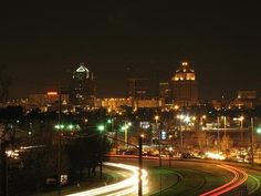 Greensboro at night