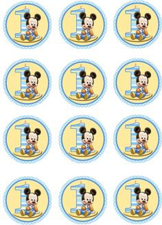 Baby Boy Mickey Mouse Edible Cupcake Toppers by ShoreCakeSupply Baby Mickey Cake, Festa Mickey Baby, Theme Mickey, Mickey Mouse Cupcakes, Minnie Baby, Baby Mouse, Mickey Party, Mouse Cake, Mickey 1st Birthdays