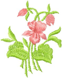 Free machine embroidery flowers