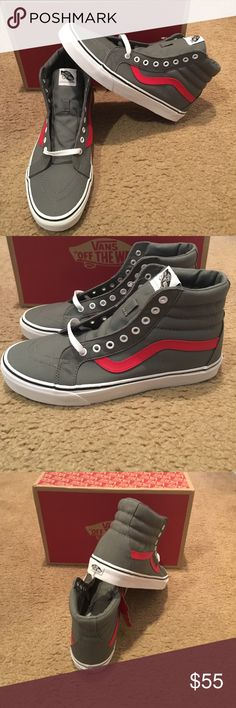 89444dd73a6 Canvas SK8-Hi Reissue Vans New in box. Tornado Racing red. Vans