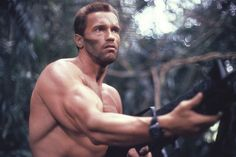 Arnold Schwarzenegger old six pack hot body photo
