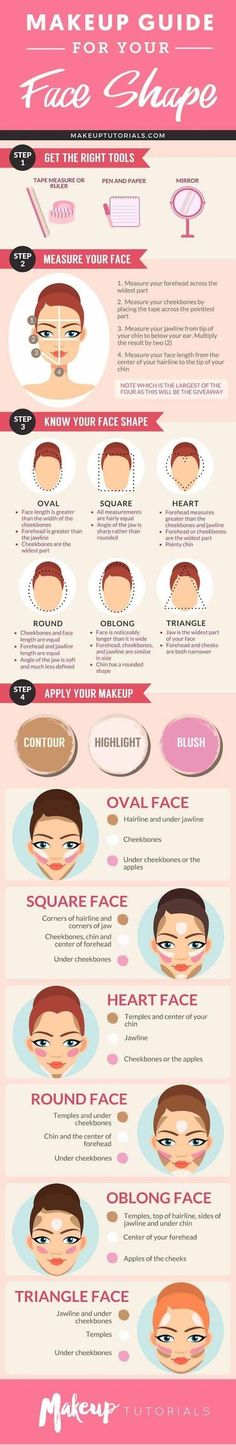 How to Contour Your Face Depending On Your Face Shape | Best Makeup Tutorials And Beauty Tips From The Web | Makeup Tutorials