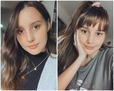 My cowlick has always been the bane of my existence and deterred me from ever getting a fringe. But I was feeling impulsive yesterday so I grabbed the kitchen scissors and cut myself some bangs anyway. Here's a before and after, still not sure if it suits me!!