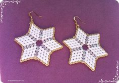 Superstar superduo cystals and seed beads earrings von 75marghe75