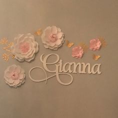 Wall Hanging Letters - Painted Wooden Name - Nursery Wall Sign - Wall Letters - Wall Decor - Custom Name - Wood Name - Wood Word - Gianna Letter Wall Decor, Name Wall Art, Nursery Letters, Nursery Signs, Boho Nursery, Baby Nursery Decor, Nursery Ideas, Nursery Room, Girl Nursery