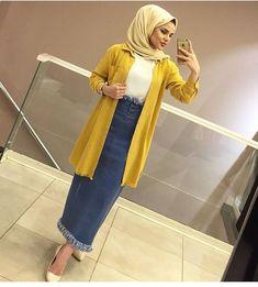 Eteğimizden almayan kaldımı??? Modern Hijab Fashion, Islamic Fashion, Abaya Fashion, Muslim Fashion, Modest Fashion, Fashion Outfits, Fashion Muslimah, Hijab Dress Party, Hijab Style Dress