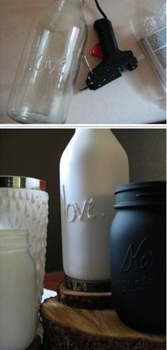 so cute! Just hot glue and spray paint - Click image to find more DIY & Crafts Pinterest pins