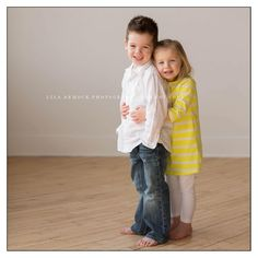 Sister and Brother pic. So cute!
