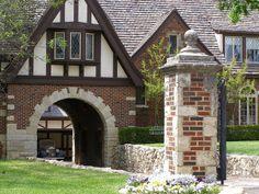 Close up of Tudor-style home