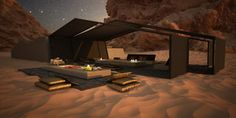 Wadi Rum Resort design project in Jordan. A series of lodges inspired by the site rock formations and Bedouin tents.