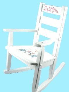 Childrens Rocking Chair - Flowers Design