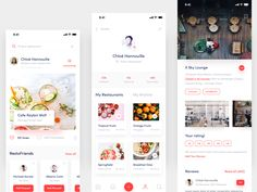 Resto Friends App Exploration designed by Masudur Rahman . Connect with them on Dribbble; the global community for designers and creative professionals. Mobile Application Design, Mobile App Design, Mobile Ui, Profile App, Mobile Restaurant, Cooking App, Delivery App, Dashboard Design, Interactive Design