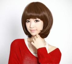 Hot Sell New Style Womens Girls Sexy Short Fashion Straight Hair Wig 3 Colors
