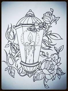 candle lantern drawing - Google Search