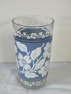 Vintage Hazel Atlas DOGWOOD Glasses set/7 by LavenderGardenCottag, $19.00