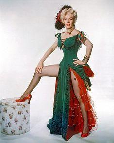 Marilyn Monroe for 'River of No Return', 1954