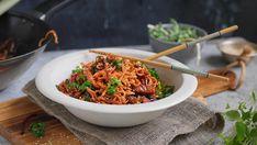 no Wok, Japchae, Risotto, Ethnic Recipes, Dinner Ideas, Dinners, Drinks, Recipe, Dinner Parties