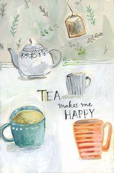 Tea makes me happy  Source: www.bellasecretgarden.tumblr.com