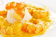 Riz aux crevettes, curry et coco : Recette de Riz aux crevettes, curry et coco - Marmiton