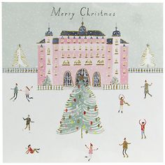 Buy John Lewis Ostravia Skating Charity Christmas Cards, Pack of 6 Online at…