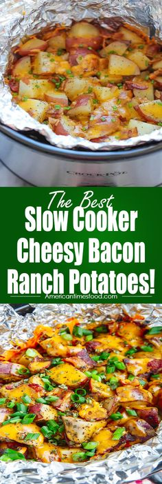 Slow Cooker Cheesy Bacon Ranch Potatoes! – Delicious recipes to cook with family and friends.