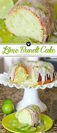 Easy Lime Bundt Cake Recipe. Sweet and tart, such a perfect dessert for spring and summer! #dessertfoodrecipes