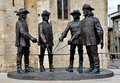 France, Condom (Gers) - three musketeers and D'Artagnan statue | Flickr - Photo Sharing!