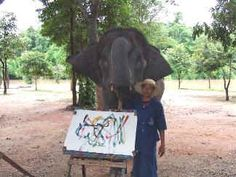 "Lukhan (Lokhang, Look-Khang) is a female elephant, her name means ""Spinning Top."""