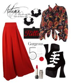 """Untitled #19"" by stateofbeauty ❤ liked on Polyvore featuring Jeffrey Campbell and Oscar de la Renta"