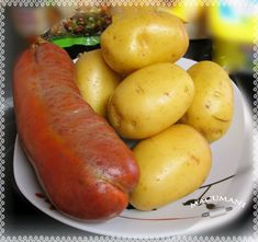 .: PATATAS A LA MALLORQUINA Canapes, A Food, Sausage, Vegetables, Easy Food Recipes, Clean Eating Meals, Deserts, Stuffed Potatoes, Spanish Kitchen