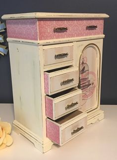 Vintage shabby chic antique white jewelry box - upcycled by CocoandQuinnVintage on Etsy https://www.etsy.com/listing/476269496/vintage-shabby-chic-antique-white