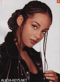 Enjoyable Alicia Keys Black Braided Hairstyles And Keys On Pinterest Hairstyles For Women Draintrainus