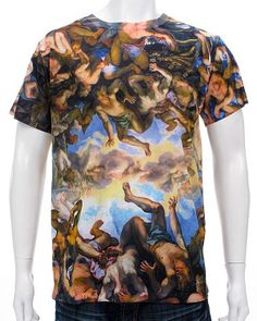 Renaissance Tee.100% Polyester.Modern, Slim Fit: