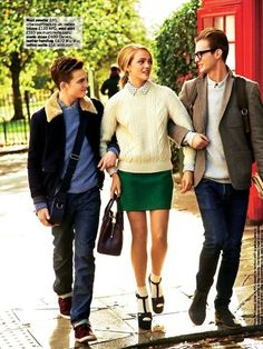 """""""Preppy Style is Just So Cute"""" by Chris Craymer for Glamour UK January 2013. a perfect St. Patrick's Day outfit!"""