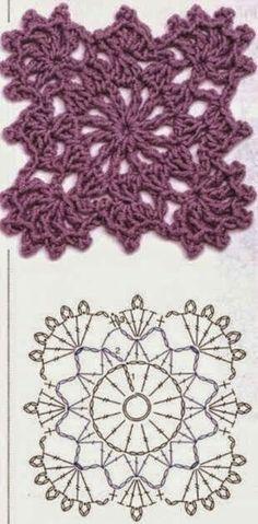 Transcendent Crochet a Solid Granny Square Ideas. Inconceivable Crochet a Solid Granny Square Ideas. Beau Crochet, Crochet Diy, Crochet Motifs, Form Crochet, Crochet Blocks, Crochet Diagram, Crochet Stitches Patterns, Crochet Chart, Crochet Squares