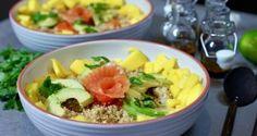 Quinoasalat med laks, avokado og mango – Berit Nordstrand