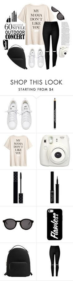 """""""60-seconds Style: Outdoor Concerts"""" by buflie ❤ liked on Polyvore featuring Estée Lauder, Fujifilm, Gucci, Giorgio Armani, Thierry Lasry, MANGO, 60secondstyle and outdoorconcerts"""