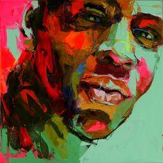 Ya hablamos de la artista francesa Françoise Nielly en el 2010 pero me he vuelto a encontrar con alguno de sus nuevos trabajos, más concretamente con un video de como aplica una de sus obras sobre un modelo de coche. Está pintora francesa tiene un estilo muy expresivo y realista. Sus obras tienen una fuerza brutal y una enorme energía vital, normalmente suele crear cuerpos o rostros humanos, llegando a crear pinturas que rozan lo sexual. Su gama de colores es libre, exuberante, sorprendente…