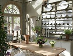 Plate rack & wirework chairs