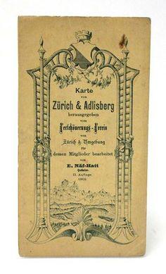 Karte Zürich & Adlisberg 1902 in Wetzikon ZH kaufen bei ricardo.ch