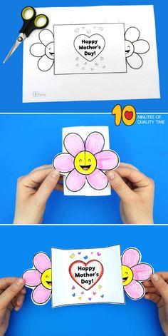 Happy Mothers Day Card Template Glückliche Mutter-Tageskarten-Schablone Simple and a laugh actions for youngsters (Visited 1 times, 1 visits today) Mothers Day Crafts For Kids, Diy Mothers Day Gifts, Mothers Day Quotes, Mothers Day Cards, Happy Mothers Day, Flowers Mothers Day, Mother Card, Child Quotes, Son Quotes